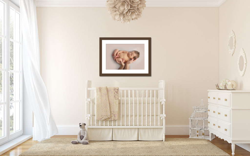 Dallas newborn photographer creates custom wall decor for your home