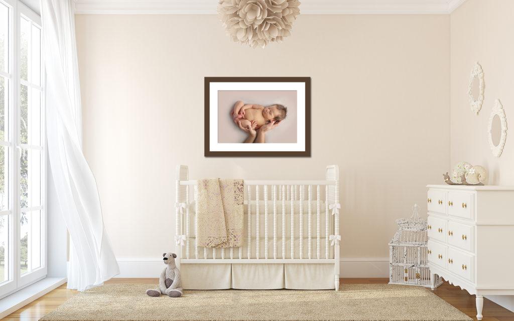 Dallas newborn photographer creates custom wall decor for your home