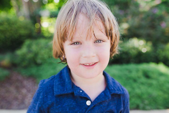 Little boy near Whiterock Lake in Dallas Texas