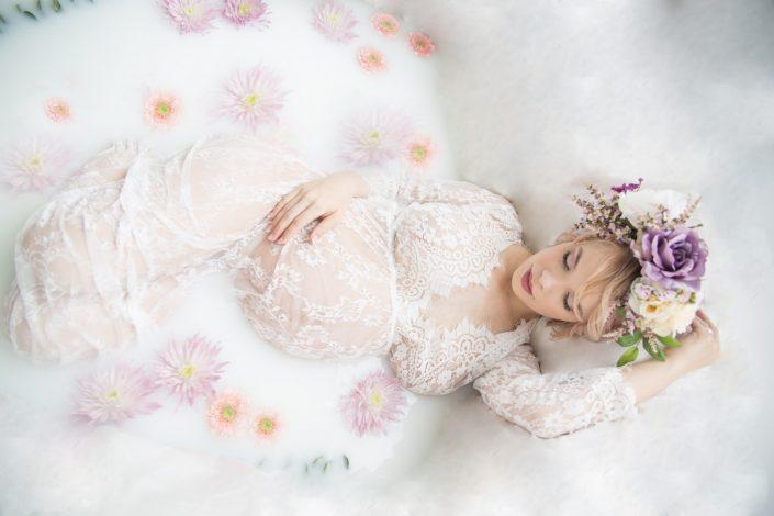 Dallas Maternity Photography Milk Bath
