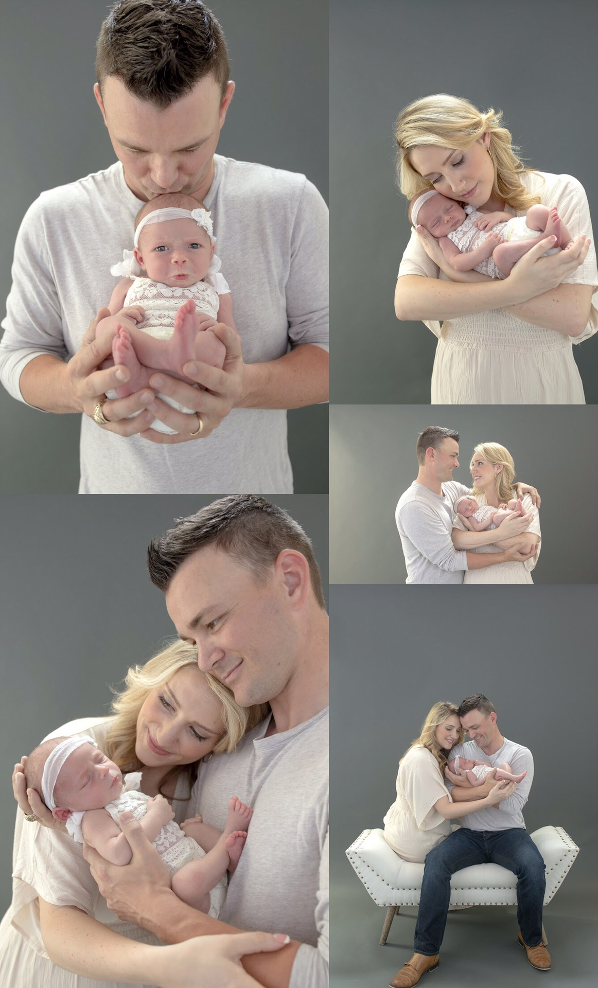 newborn session with parent portraits in Dallas Texas