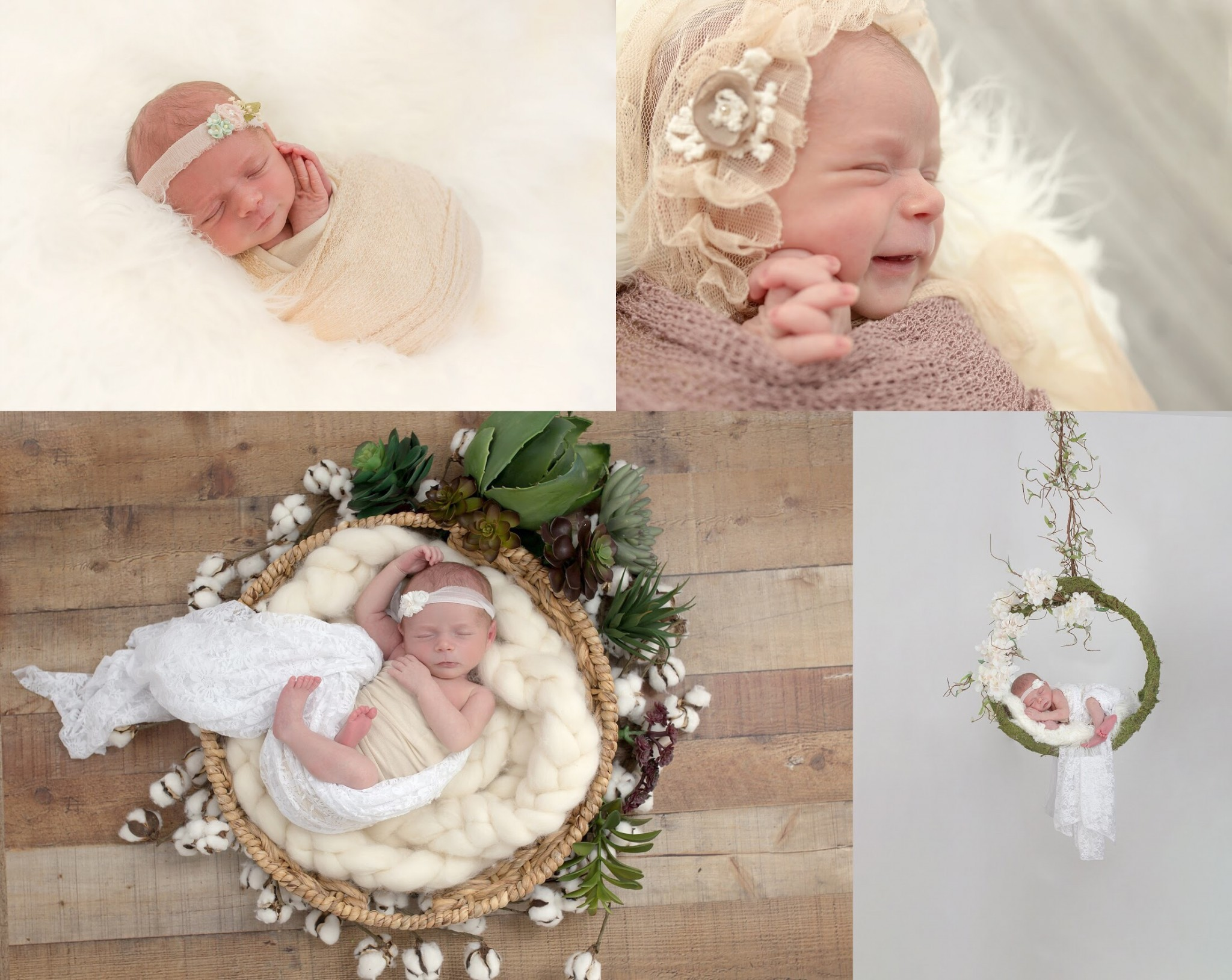 customized newborn portrait session to compliment nursery decor