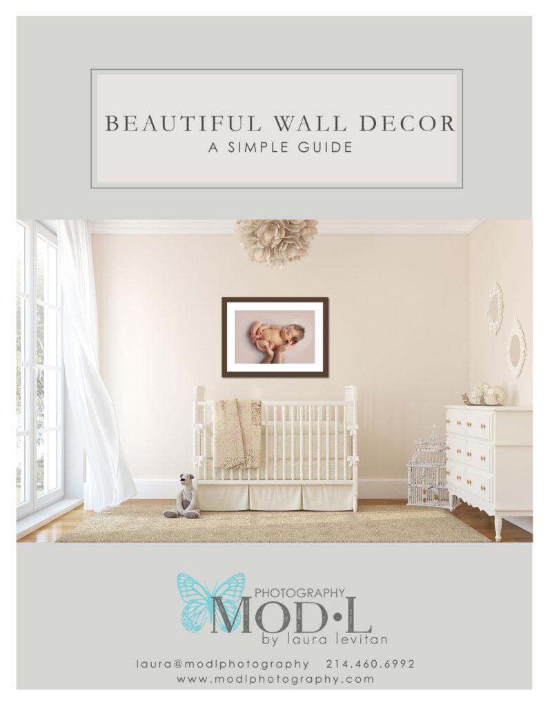 Complimentary Wall Decor Planning Guide from Mod L Photography in Dallas TX