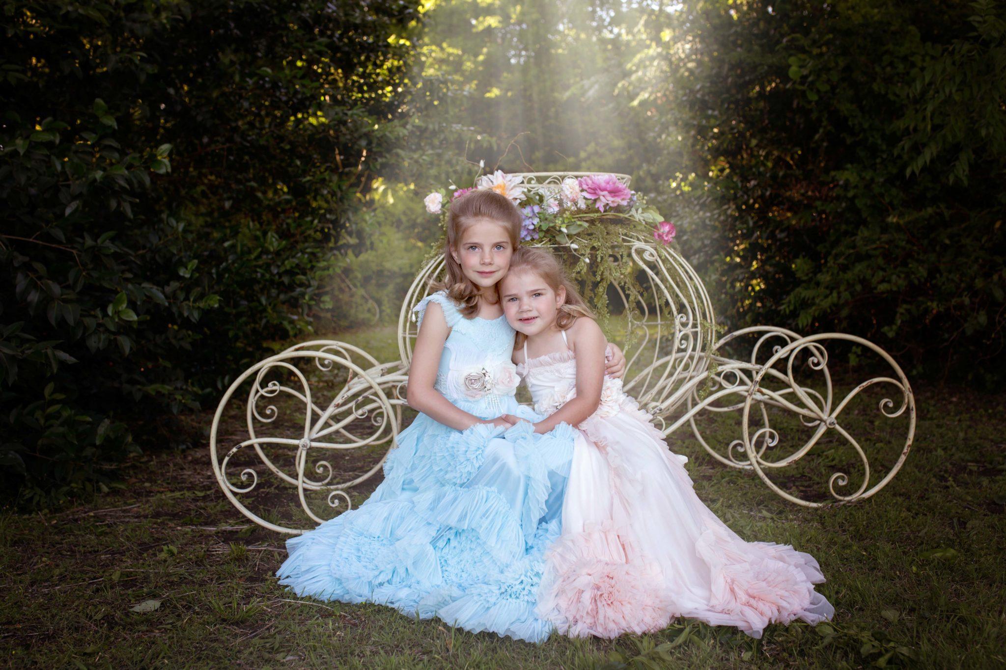 Richardson texas local park with magical cinderella carriage prop