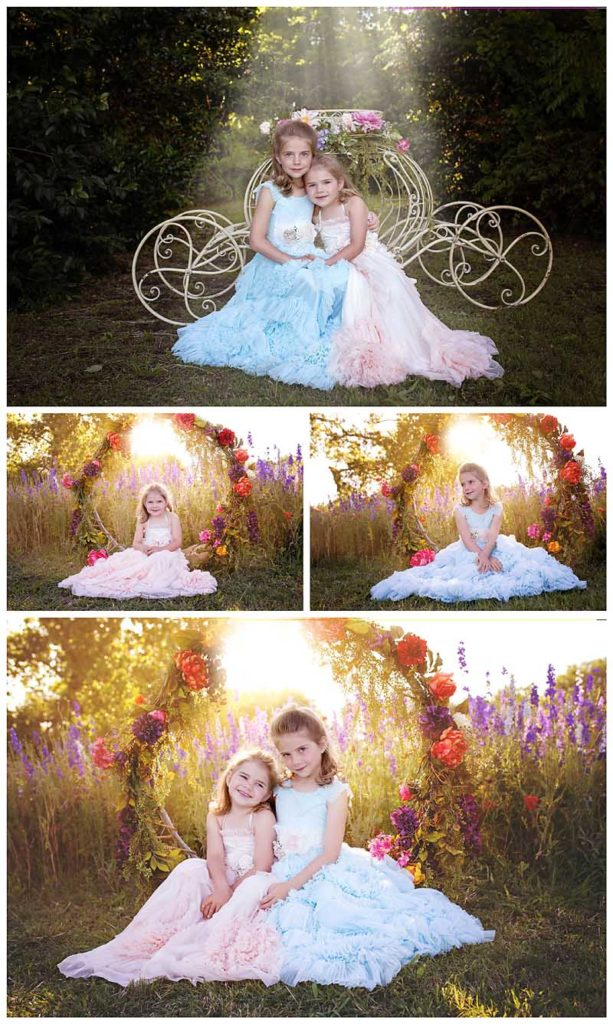 Richardson Texas wildflower fields, styled princess photography shoot.