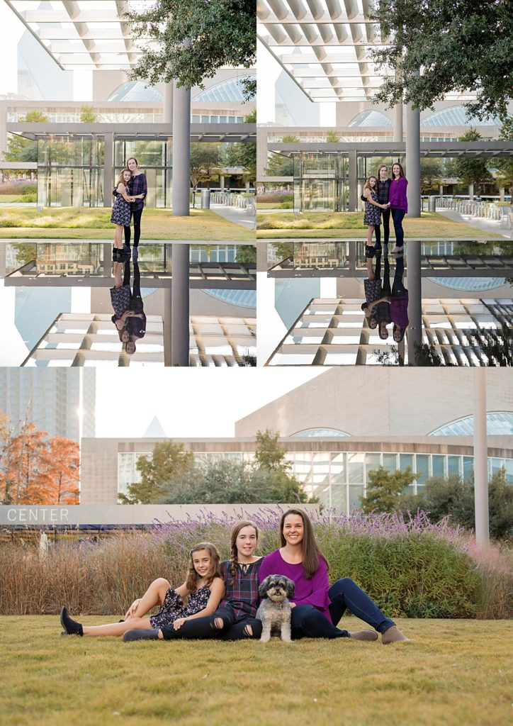 Dallas family photographer Mod L Photography shoots mother daughter session at the Winspear Opera House in Downtown Dallas