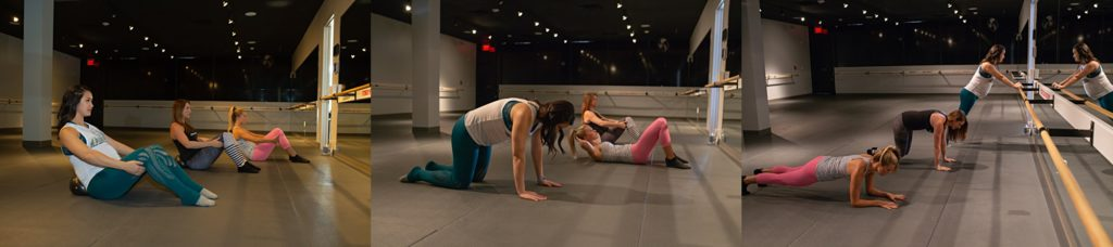 Plano maternity workout modified for pregnant mothers at The Barre Code Plano