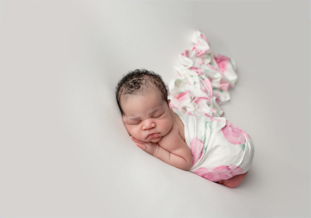 newborn girl picture sweet and simple floral
