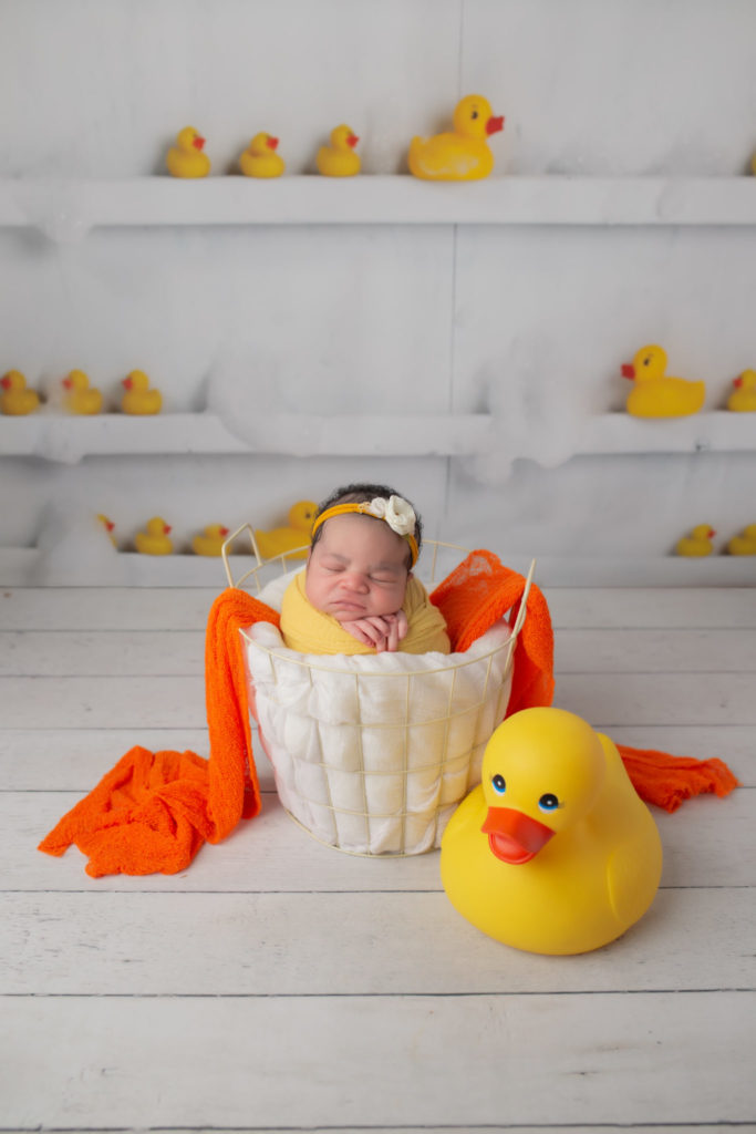 Delta Duck newborn picture