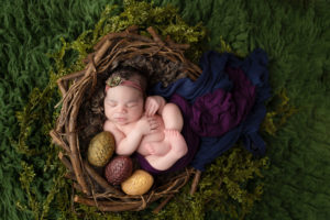 dallas newborn photographer creates baby daenarys mother of dragons game of thrones baby photography session setup