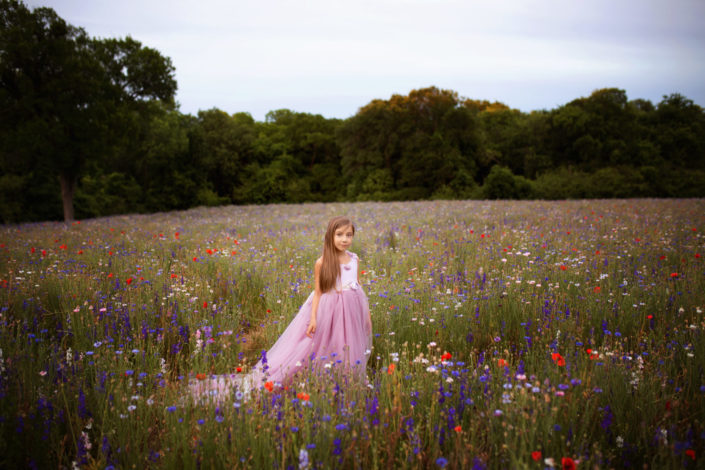 Wildflower field at Crowley Park in Richardson Texas with Dallas Child Photographer Mod L Photography