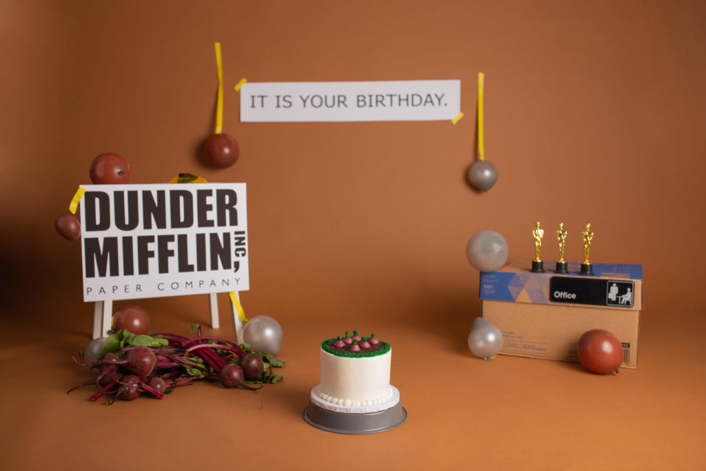 The Office Themed birthday decorations for first birthday Cake Smash