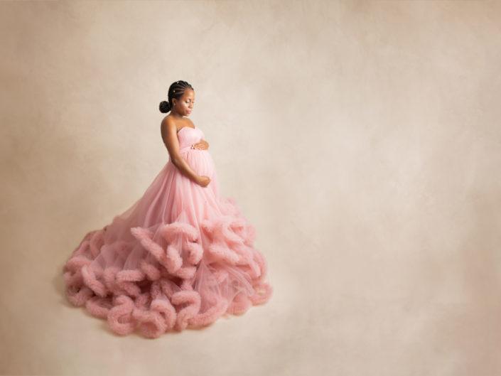 Pink Cupcake Maternity Ballgown