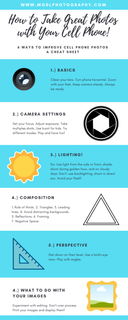 how to take great cell phone pictures infographic