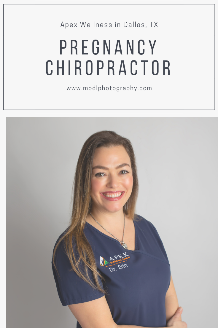 Dr. Erin Calaway featured pregnancy, newborn, and family chiropractor in Far North Dallas, Plano, Richardson, Addison area.