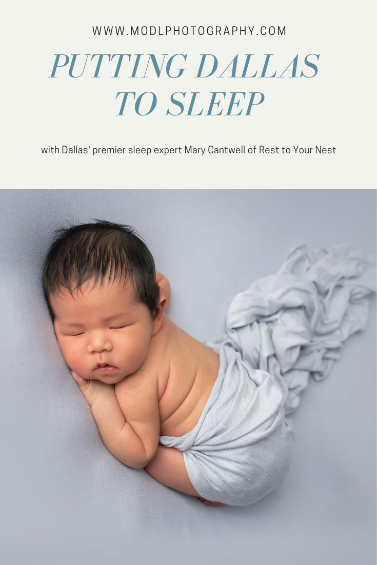 dallas newborn photographer interviews sleep consultant about her business