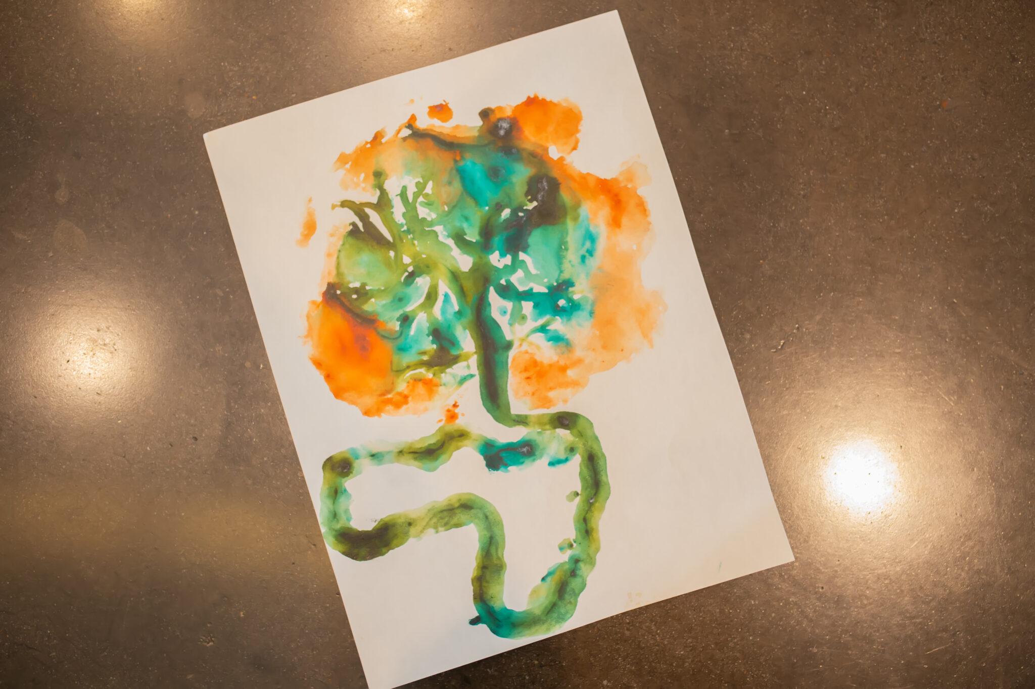 print of placenta