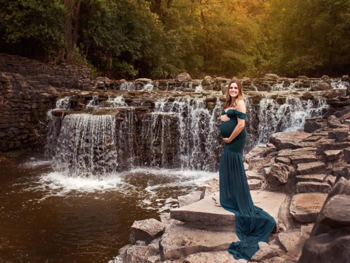 Green Monroe Mermaid Tossing Gown